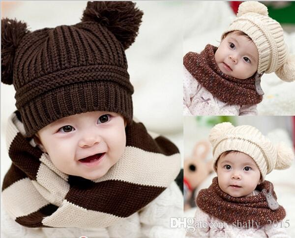 Großhandel Heiße Koreanische Baby Hüte Doppelohren Ball Mädchen ...