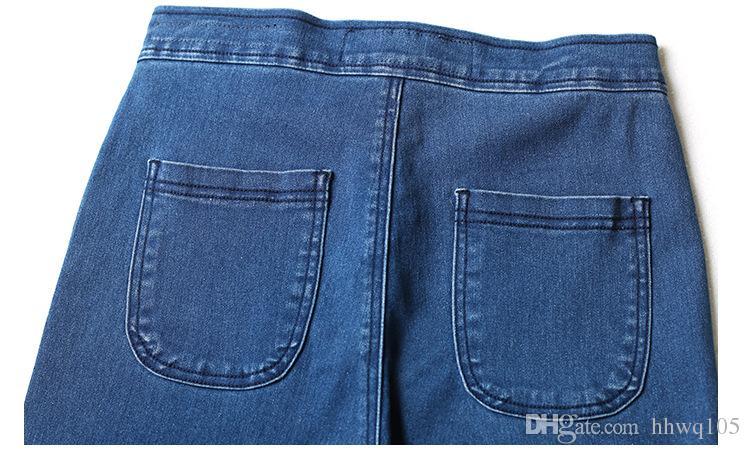 Ladies High Waist Denim Jeans Slim-Fit Blue Jean Pencil Pants Skinny Stretchy Cotton Leggings Boyfriend Jeans BSF0332