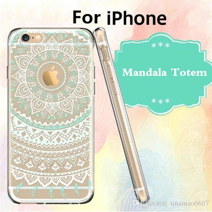 hybrid protective cases for iphone 7 7plus mandala totem hennahybrid protective cases for iphone 7 7plus mandala totem henna pattern soft tpu hard back covers for iphone 5 5s 6 6s plus cell phones cases custom cell