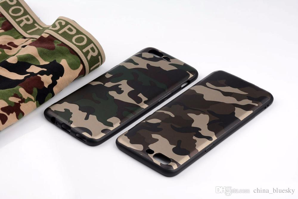 official photos 88e5d abe22 Camouflage cover oneplus 5 case silicone phone coque new design thick Heavy  TPU soft Anti-knock funda capa Sports style