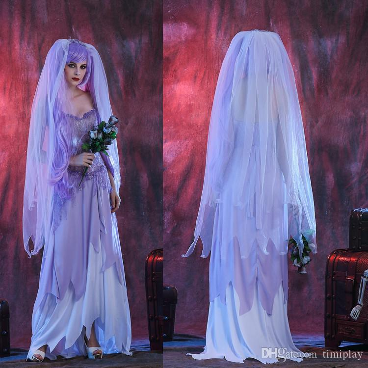 Halloween Fun Zombie Wedding Dress Ghost Bride Vampire Purple Suit Group Costumes Awesome From Timiplay