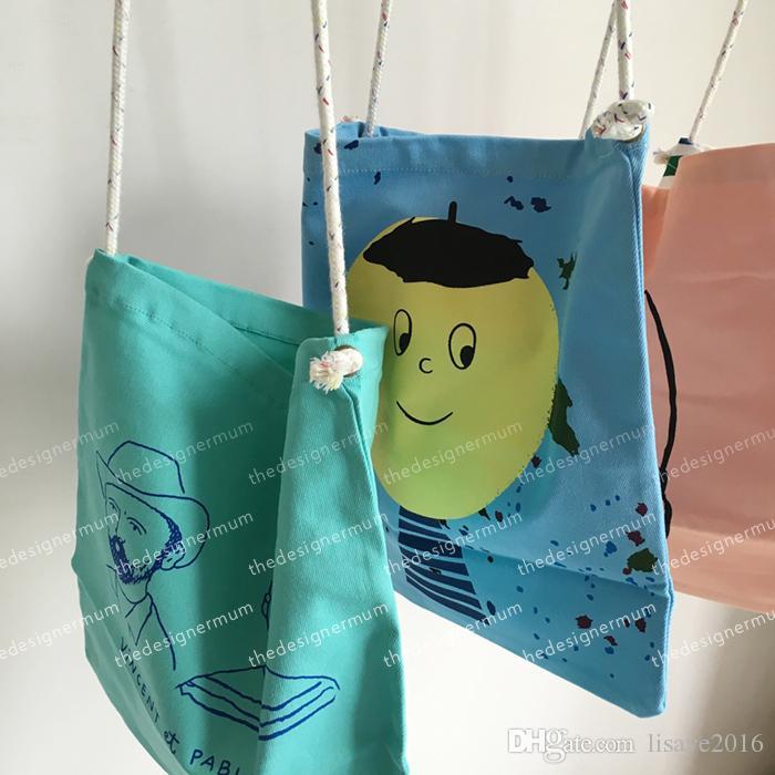 2018 bobo wählt Jungen Mädchen Graffiti großen Kopf Muster Tasche Baby Kinder Cartoon Aufbewahrungstaschen 4 Stil Schultasche Umhängetaschen