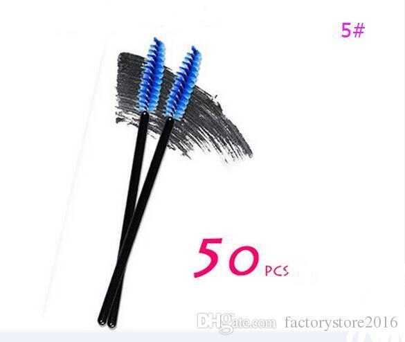 50 pçs / lote descartável Lip Eyeliner cílios escova One-off cílios escova mascara batom gloss aplicador varinha maquiagem escovas transporte da gota
