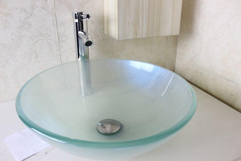 Großhandel Glass Basin Waschtisch Waschbecken Waschbecken Glas ...