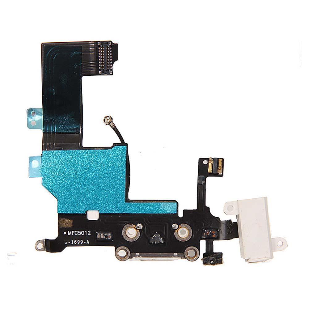 BlackWhite Cuffie Audio Caricabatterie Dati di ricarica Porta USB Porta cavo Flex iPhone 5 5G 5S 5C Nuovo