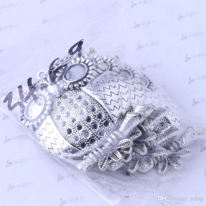 Hibou breloques pendentif bijoux en alliage de zinc antique argent / bronze antique pendentif fit collier / 3469