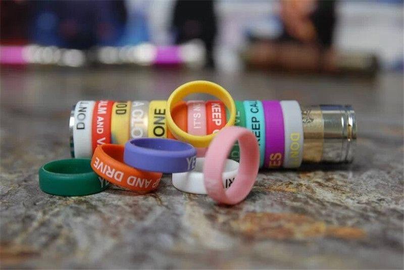 Silicon banda vape beleza anel para mods mecânicos rba rda atomizador protetor decorativo antiderrapante mech mod e-cig Doge Lancia orquídea v4 Aris