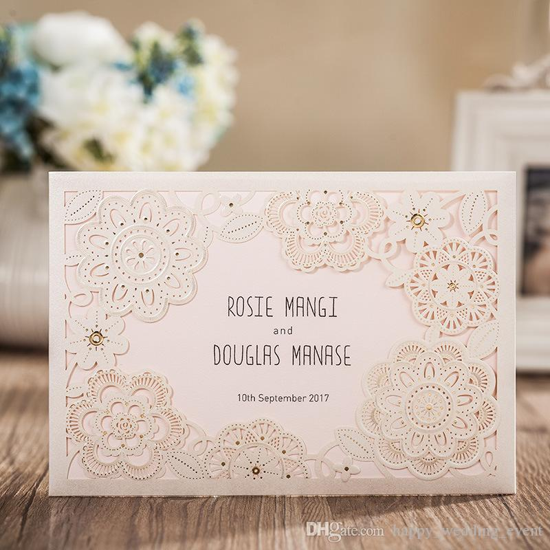 Elegant Wedding Invitation With Rsvp Card Response Card White Lace