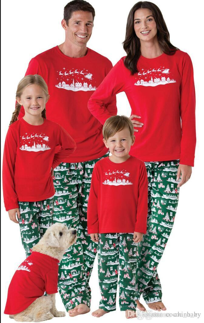 family christmas pajamas 2017 christmas snowman print family matching outfits fashion patchwork long sleeve family look family christmas pajamas family