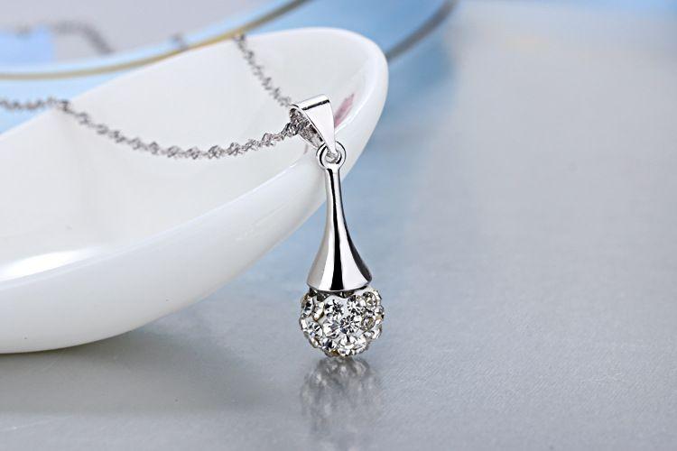 أعلى درجة الفضة والمجوهرات مجموعات جديد أزياء الساخن بيع شامبالا أقراط المعلقات القلائد مجموعة للنساء هدية بالجملة السفينة الحرة 329WH