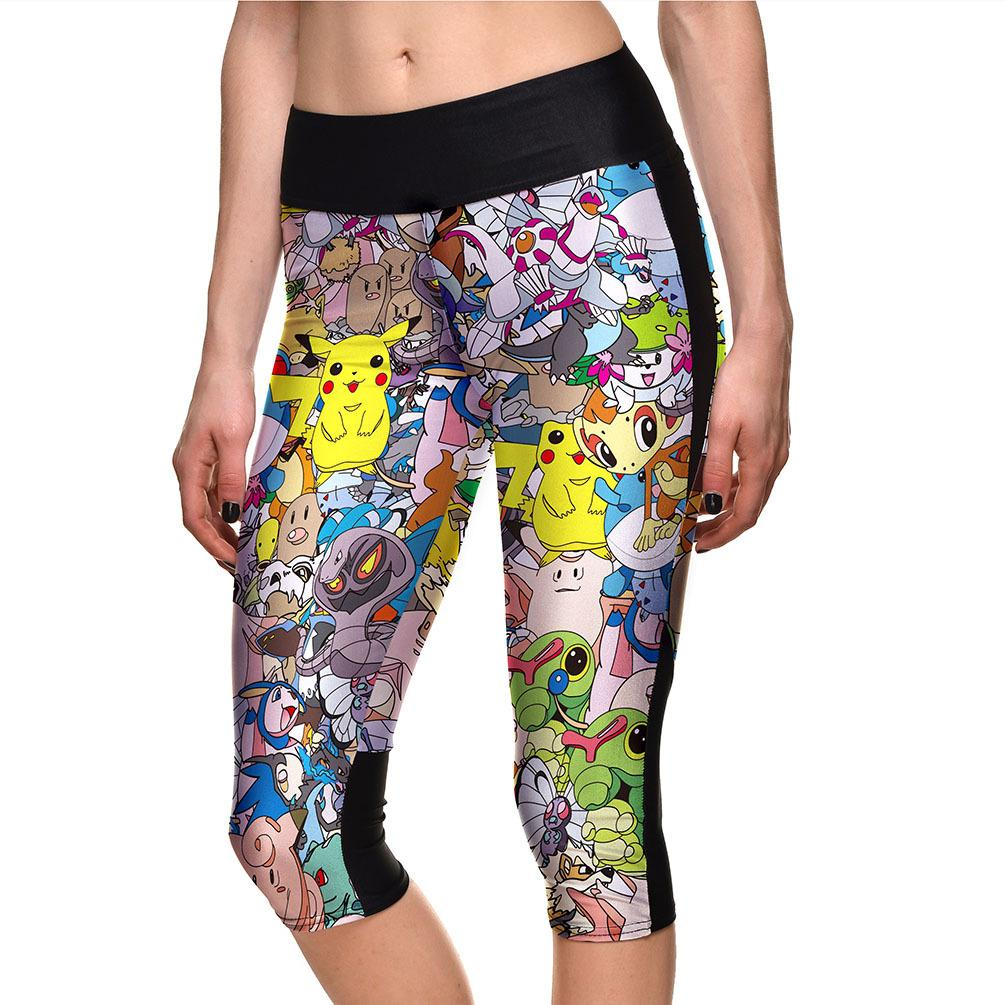56d5db2b4be 2019 Women S Fashion Summer Digital Print Sports 3 4 Leggings Plus Size  Cute Printed High Waist Fitness Legging Cropped Pants For Woman From  Wodedipan1977
