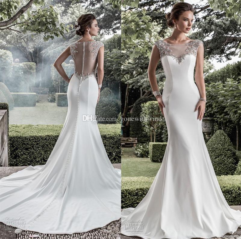 Excepcional Vestido De Noiva Sereia Simples Vestidos De Noiva De Trompete  MK91