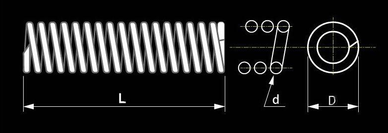 / acciaio inossidabile 304 0.3 * 4 * 25mm Molla del punto della molla della molla di compressione della molla della molla del punto di 0.3mm micro = 4mm