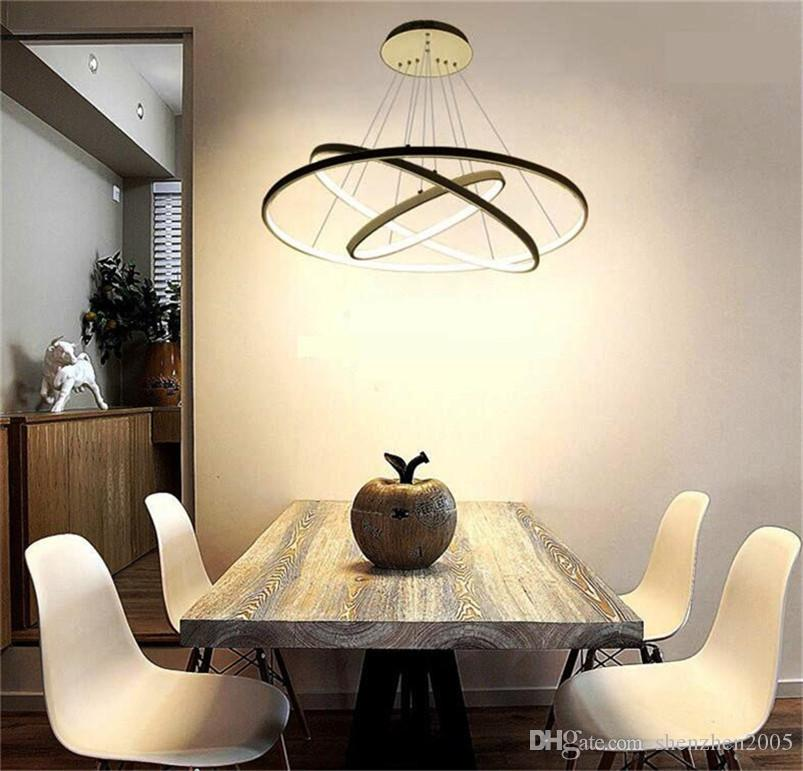 Modern circular ring pendant lights 321 circle rings acrylic modern circular ring pendant lights 321 circle rings acrylic aluminum body led lighting ceiling lamp fixtures for living room dining room 3 light pendant mozeypictures Image collections