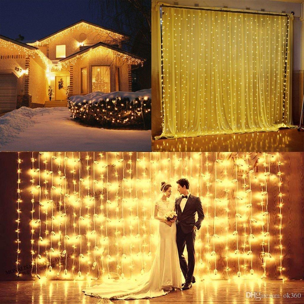 wedding decoration light 3mx3m 300leds led curtain string fairy light 300 bulb xmas christmas wedding home garden party decoration string bulb lights string