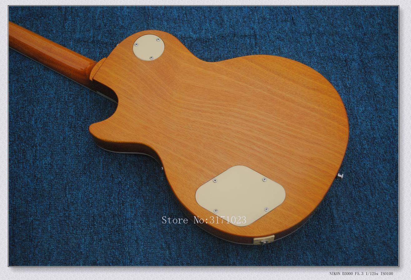 Nova Chegada Top Quality Mahogany Pescoço Padrão 1956 Gold Top VOS Goldtop P90 Pickups Guitarra Elétrica Frete Grátis