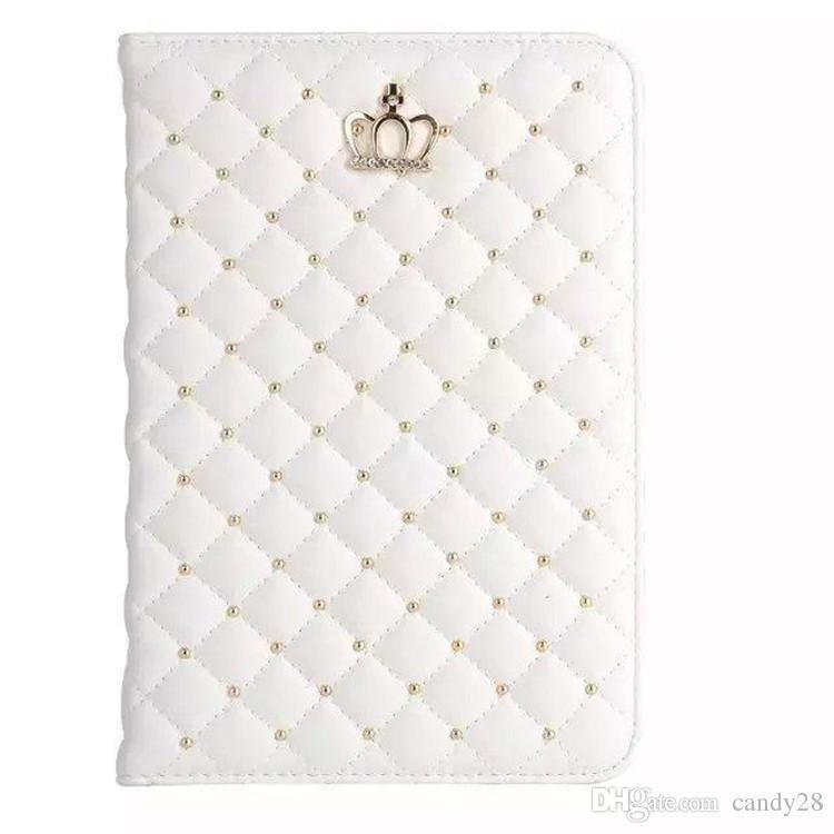 Luxury Rhinestone Crown PU Funda de tableta de cuero para iPad 2 3 4 5 6 IPAD mini 1 2 3 ipad air 1 2 con soporte a prueba de golpes Fundas