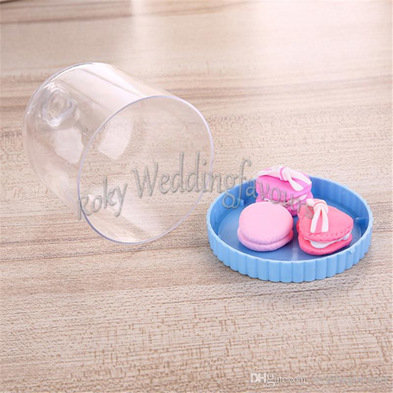 Lovely Acrylic Mini Cake Bell Jar with Base Favors Holder Birthday Party DecorsGifts Baby Shower Ideas Cupcake Stand