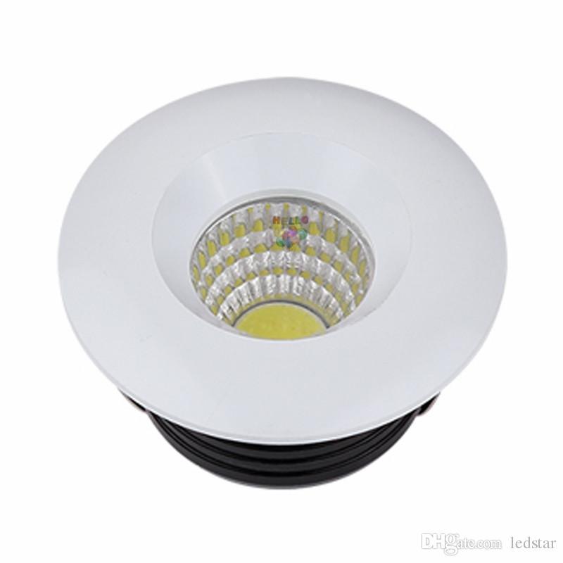 110 V 220 V 12 V Dim LED Downlights Yuvarlak COB Mini Spot Gömme LED Aşağı Lamba Kabine Ev Işıkları Için Vitrin Sürücü Dahil