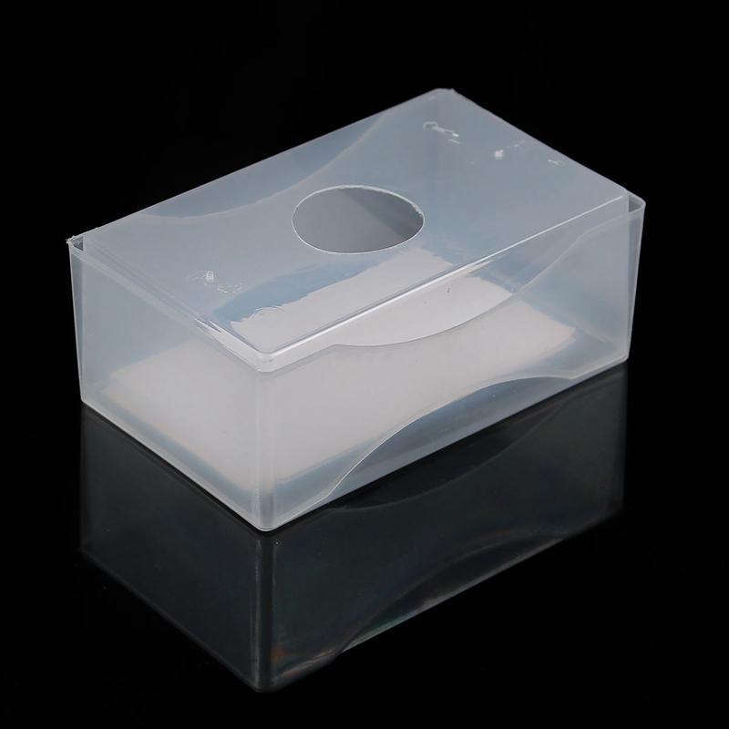 Acheter Titulaire De La Carte En Gros Plastique Transparent Botes Visite Blanc Note Holder Fournitures Container Bureau Organizer Papeterie
