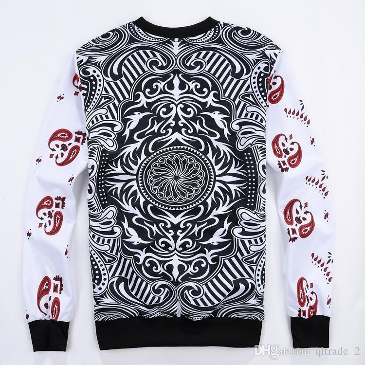 Long-sleeved sweater poker king hearts 3D men's casual Sweatshirts sports hoody printing men's long-sleeved pullover
