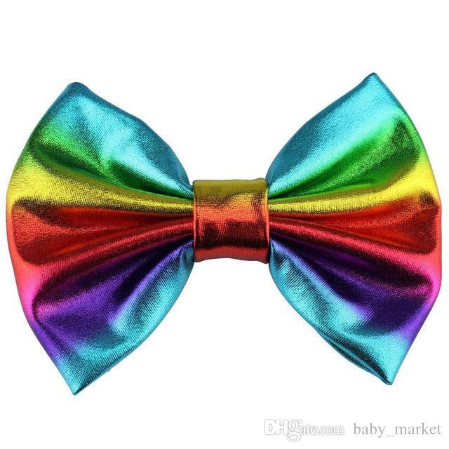 5'' Big Messy Metallic Glitter Bow Hair Clips For Children And Kids Hair bows Little Girls Headbands Hair Accessories \