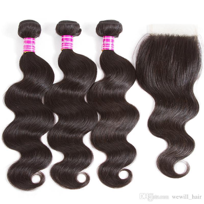 Las ofertas brasileñas profundas rizadas del paquete del pelo de la Virgen al por mayor Extensiones sin procesar del pelo humano de Remy Frontal y los paquetes Venta mujeres negras