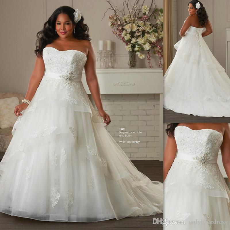 Discount Casual Plus Size Wedding Dresses African