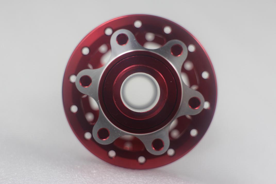 Powerway M64 Scheibenbremse Mountainbike Carbon-Legierung Vorderradnabe 100mm M15 bis 15mm durchgehende Achse schwarz rot 24 28 32 Löcher MTB XC AM ENDURO