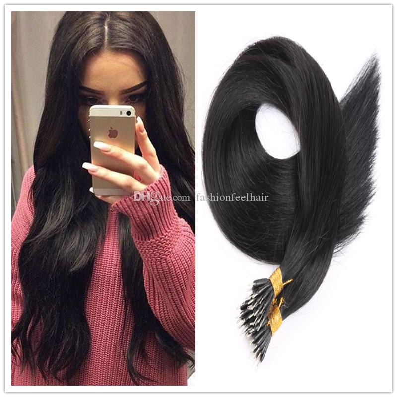 Factory Offer Nano Ring Hair Extensions 1gs 100gpc Micro Nano Hair