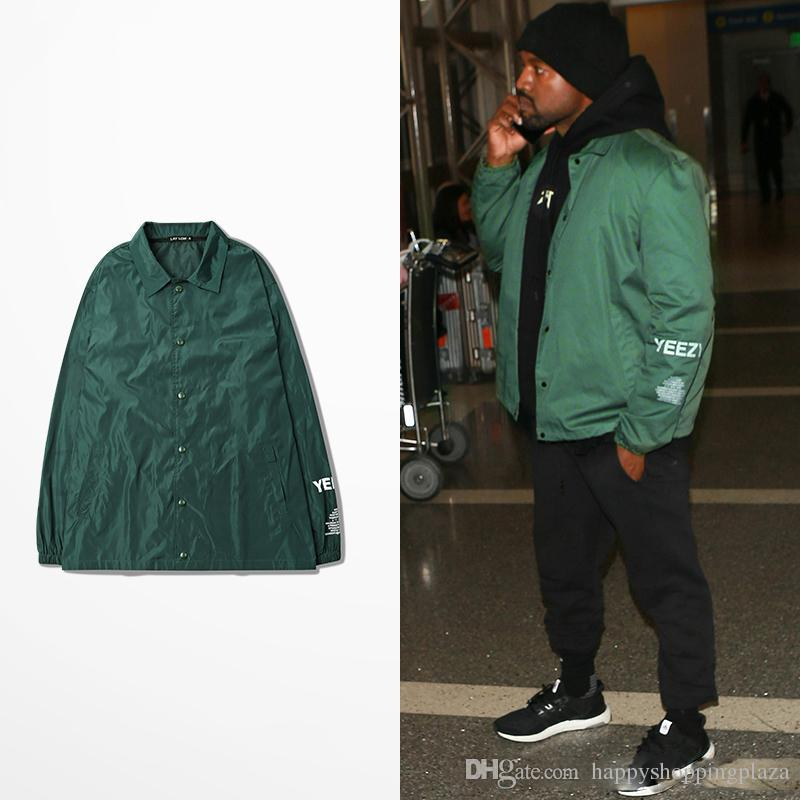 Well-known Kanye West Season 3 Bomber Jacket Green Thin Jackets Men Hip Hop  NW21