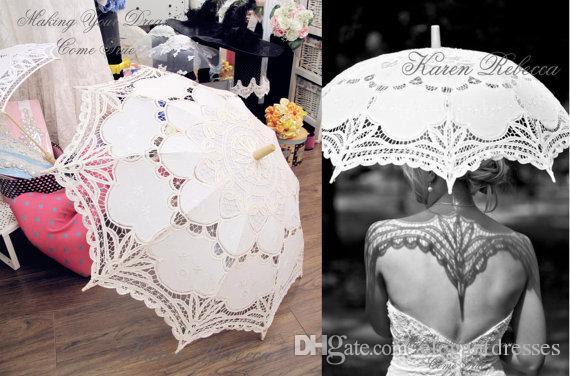 5e62fa0e25c5 Acquista Ombrello Da Parasole In Stile Vintage Bianco La Festa Di Nozze A   18.1 Dal Elegantdresses