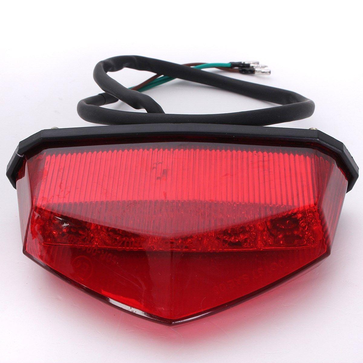 12V 3 Wiring Universal 10LEDs Red Motorcycle Dirt Bike Plate Lamp Rear Tail Brake  Light Motor Lamp Rear Light Led Light Online with $21.85/Piece on ...