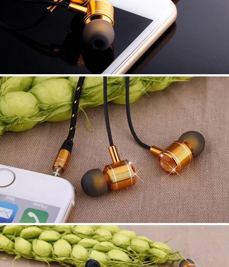 Mosidun MSD-M30 Fashion zircon headphones with microphone earphone for mobile phone diamond headset Take picture Buttom