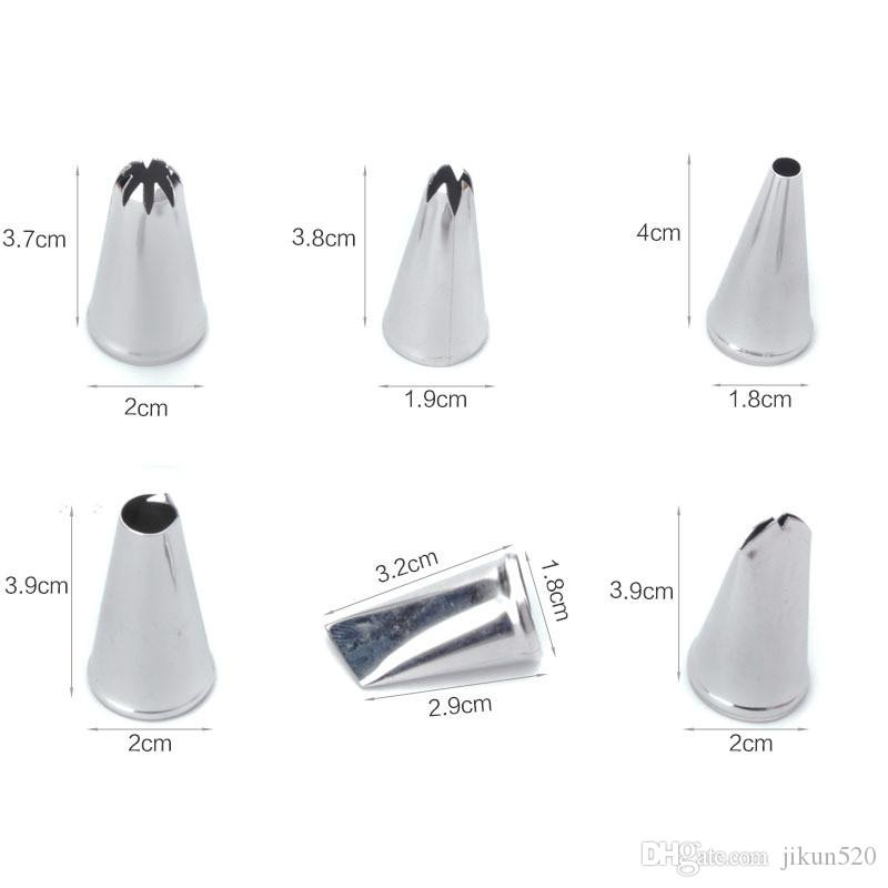 Cream Nozzles Pastry Stainless Steel Icing Piping Tips DIY Baking Decorating Tools Sets For Cake
