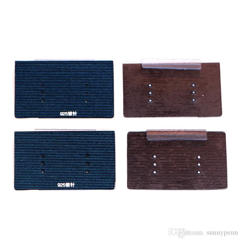 Comercio al por mayor 200 unids / lote Azul Oscuro de PVC Palo de Papel de Papel Joyería Tarjeta Colgante Pendiente de las etiquetas Fit Moda Stud Pendiente de Exhibición de Embalaje