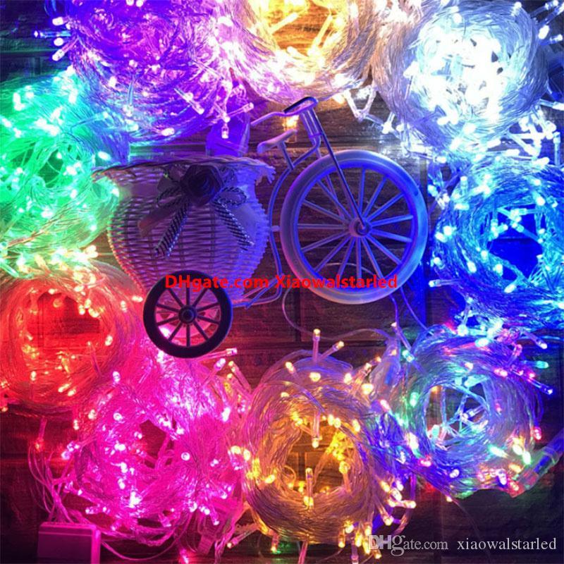 20m 30m 40m 50m 100m LED Stringi Światła Nowy Dekoracje Outdoor Light Wodoodporna Ścieżka Ścieżka Ogród Party Boże Narodzenie Garland Fairy Light