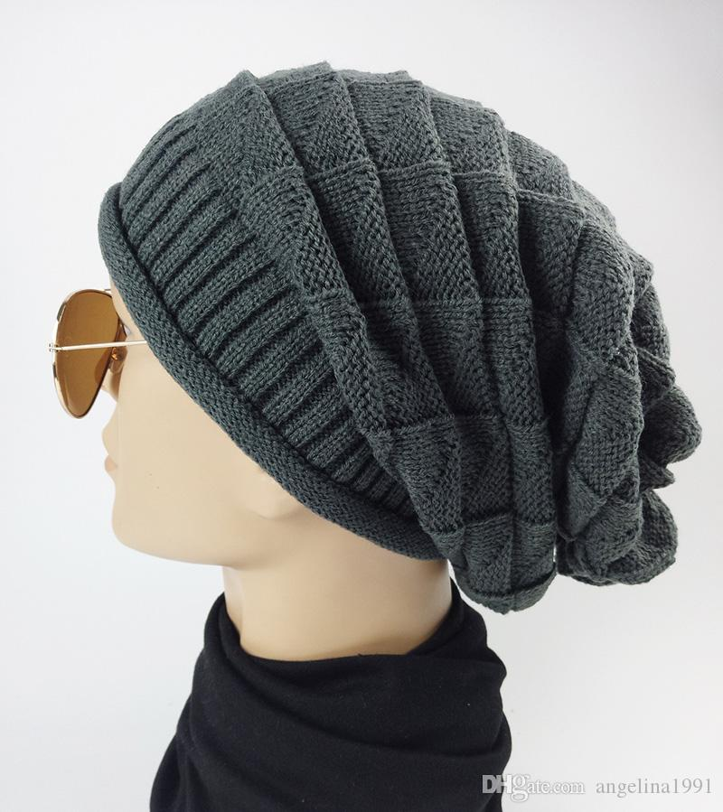 Autumn Winter Women's Beanie Hats Unisex Knitting Warm Slouchy Skullies Casual Slouch Baggy Gorros Solid Color Beanies