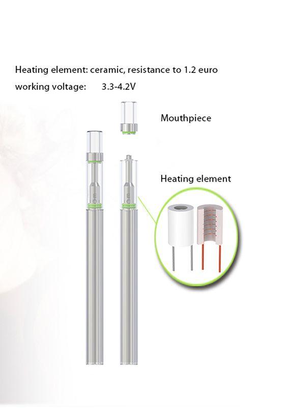 2018 Top Quality Bud D1 Disposable Vape Kit E Cig Vaporizer Ceramic Coil 0.5Ml CO2 Empty Cartridge Vape Pen Packaging