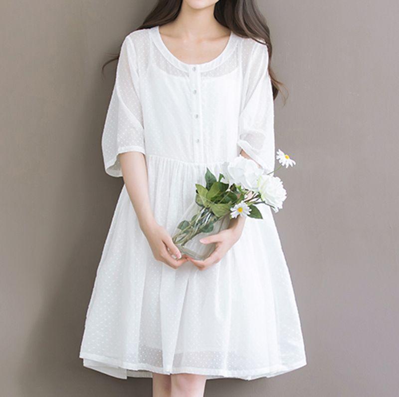 Women Dress Plus Size Women S Summer Clothing Literary Style Little