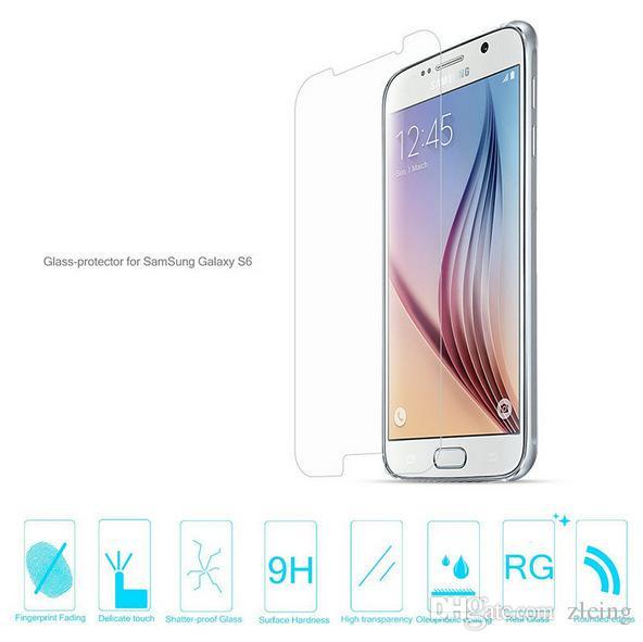 Ultra Thin 9H Premium gehärtetes Glas Displayschutzfolie für Samsung Galaxy S2 / S3 / S4 / S5 / S6 / S3 Mini / S5mini / S5 / S5 / S7562 / i9082 Duos Explosion