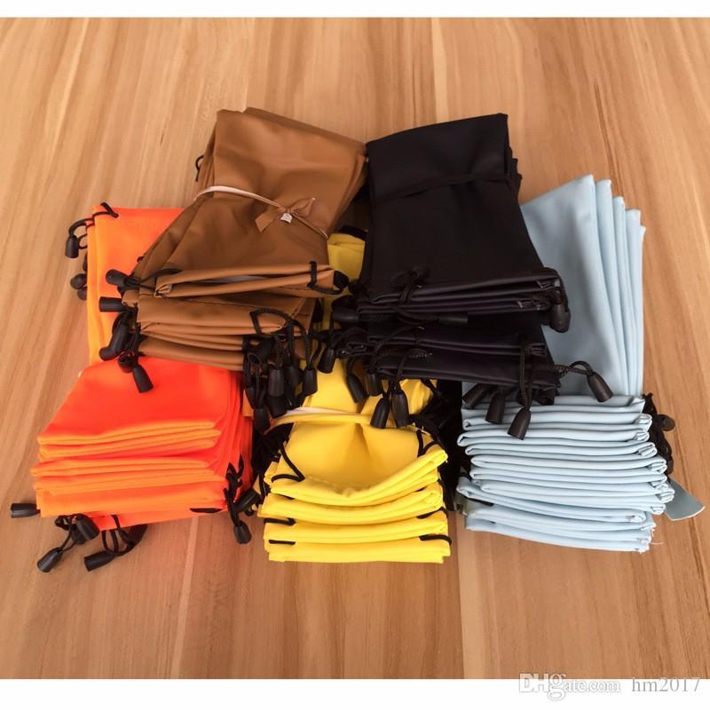 도매 초소형 섬유 선글라스 가방 주머니 소프트 안경 가방 안경 케이스 많은 색상 혼합 된 안경 액세서리