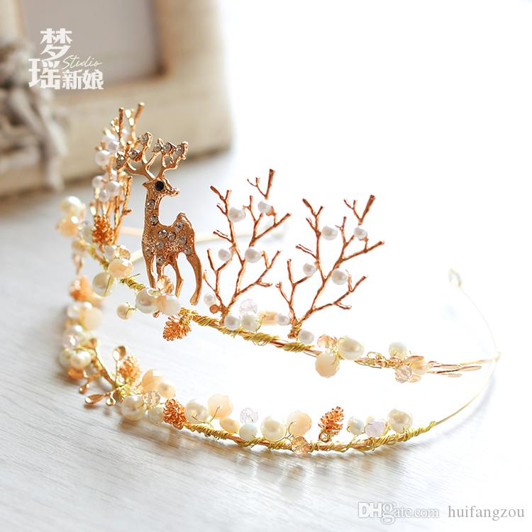 Christmas Elk Wedding Headpieces Cheap Women's Rhinestone Crowns Wedding Special Occasion Bling Braidal Outdoor Headbands