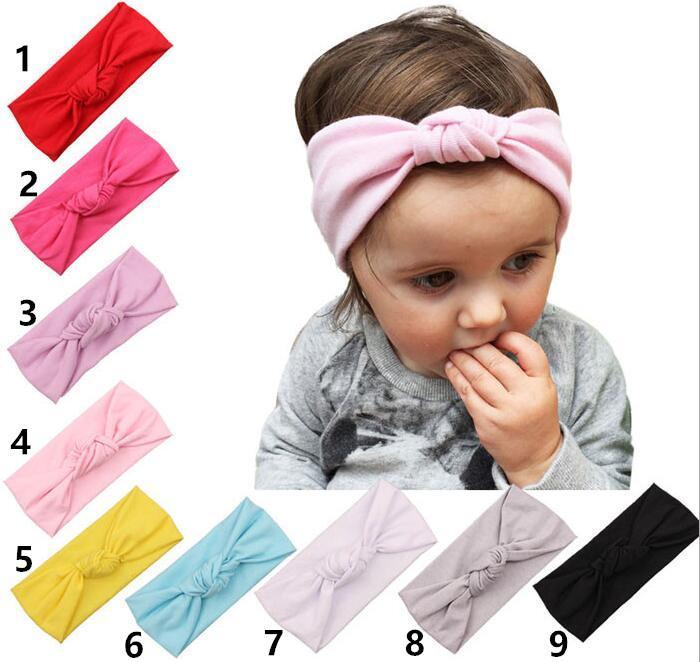 Baby Mode Stirnband Zubehör Für Haar Neugeborene Stretch Baumwolle Massivfarbe Kreuz Elastische Sport Stirnband Haarschmuck