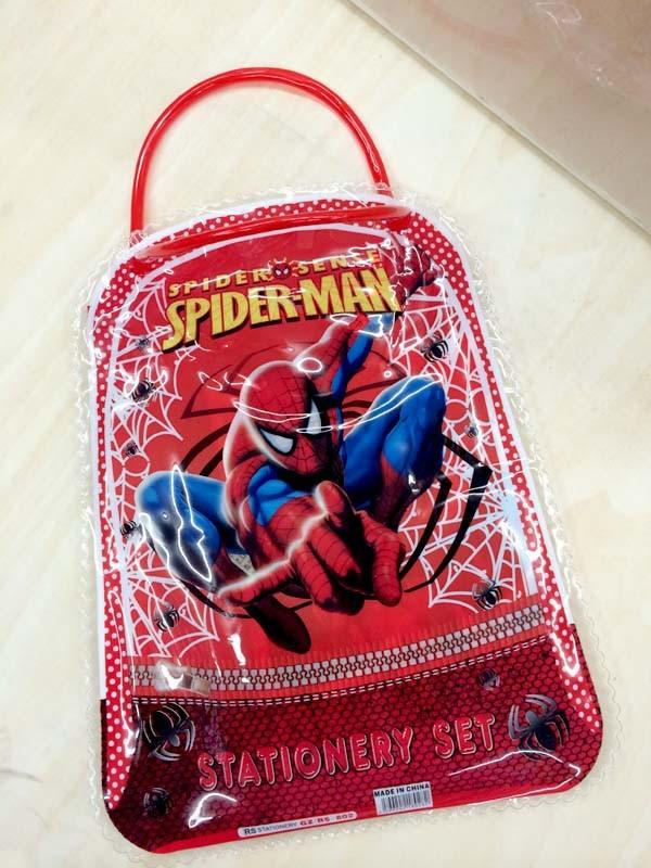 6 set kawaii pencil case for children spiderman sticker school supplies cute korean pencil case school stationery