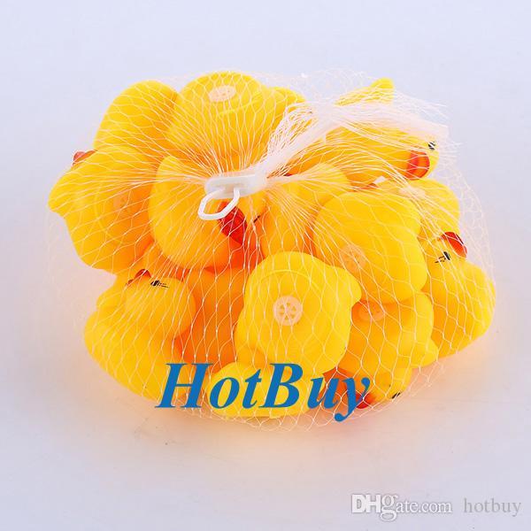 Bébé enfants fille caoutchouc garçon enfants jouet de bain en caoutchouc mignon canard qui coule canard jaune couleur # 3851
