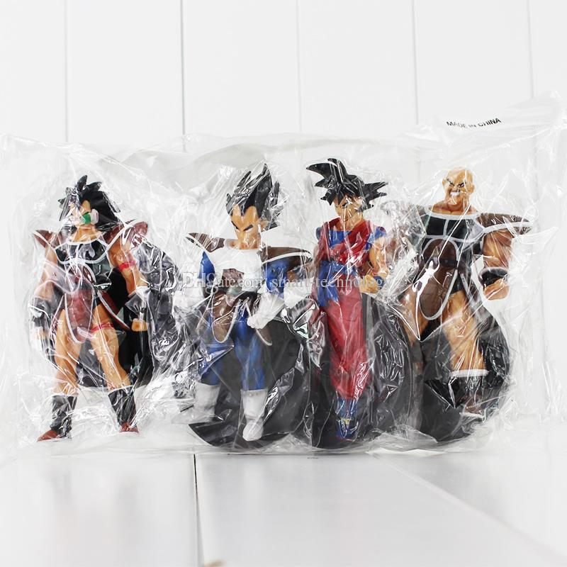 Anime Dragon Ball Son Goku Nappa Raditz PVC Action Figure Collectable Model Toy for kids gift EMS