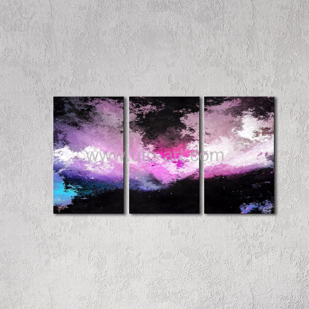 2017 new cheap modern abstract graffiti aurora painting multi