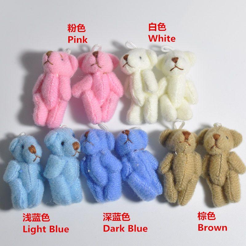 4cm Tiny Soft Teddy Bear Cute Little Stuffed Animals DIY Dolls to choose