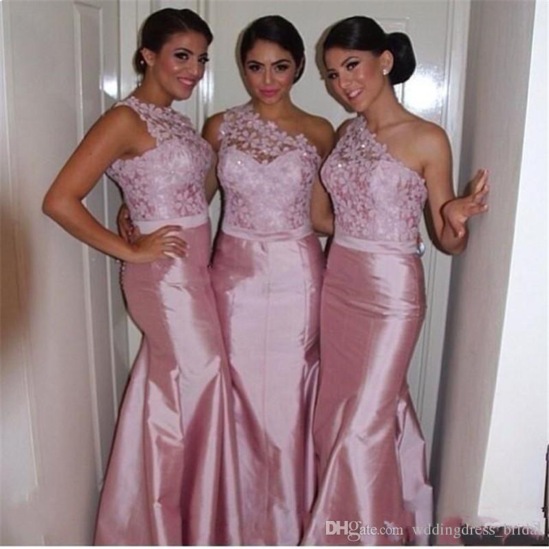 Lace Mermaid Bridesmaid Dress